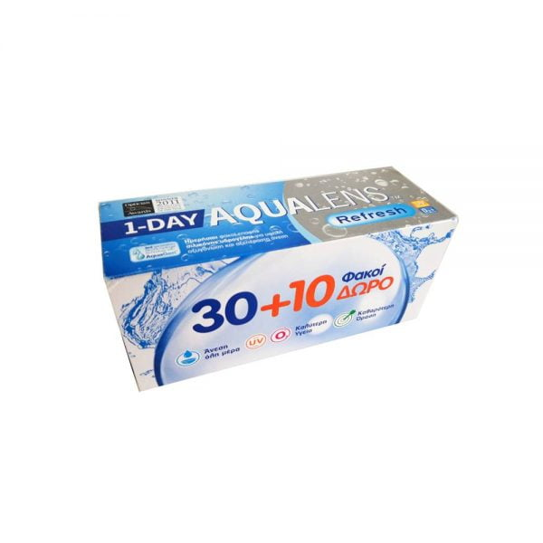 Aqualens Refresh 1Day Ημερήσιοι Φακοί Επαφής(30 τεμ.) + 10τεμ δωρεάν