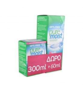 Alcon OptiFree Puremoist Διάλυμα Απολύμανσης και Ενυδάτωσης Φακών Eπαφής (300ml+60ml δώρo)