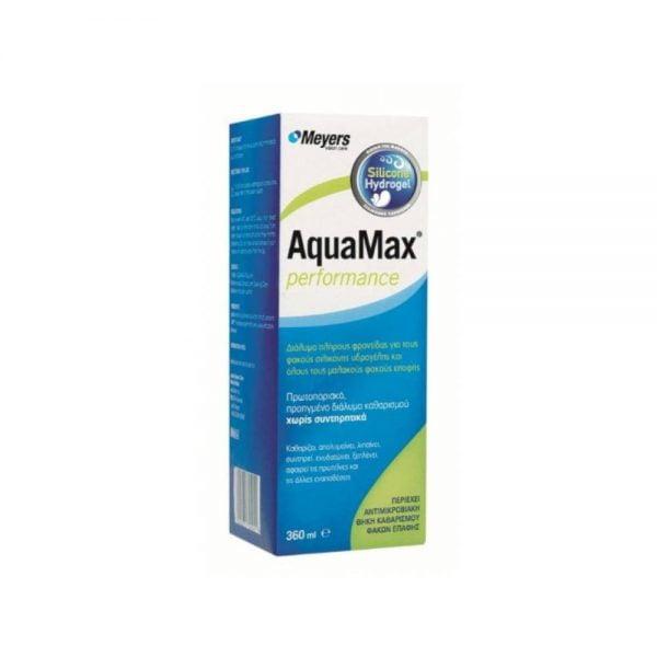 Meyers AquaMax Διάλυμα Απολύμανσης Πολλαπλών Χρήσεων για Φακούς Επαφής (360 ml)