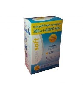 Amvis Aquasoft Διάλυμα Απολύμανσης Πολλαπλών Χρήσεων για Φακούς Επαφής 380ml + 60ml δωρεάν