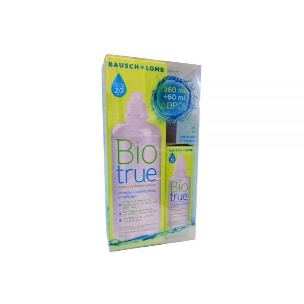 Bausch & Lomb BioTrue Υγρό Φακών Επαφής Πολλαπλών Χρήσεων (360ml+60ml δώρo)