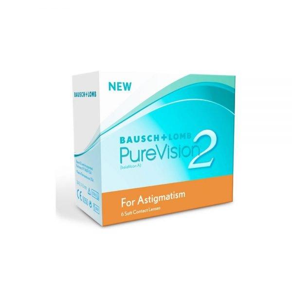 Bausch & Lomb Purevision 2 For Astigmatism Μηνιαίοι Αστιγματικοί Φακοί Επαφής (6 Φακοί)