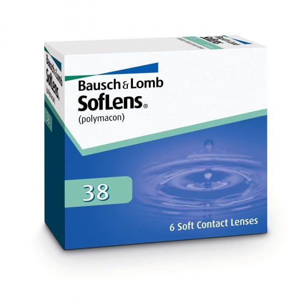 Bausch & Lomb SofLens 38 Μηνιαίοι Φακοί Επαφής (6 φακοί)