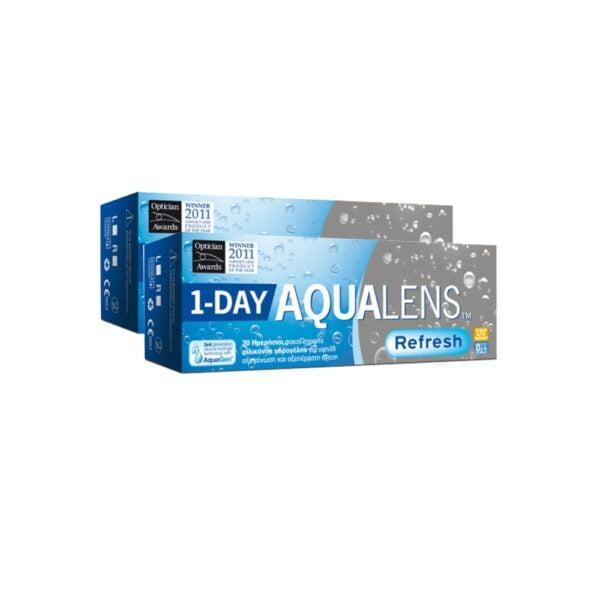 Aqualens Refresh 1Day Ημερήσιοι Φακοί Επαφής (60 τεμ)