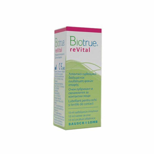 BioTrue reVital Οφθαλμικές Σταγόνες Κολλύριο Ενυδάτωσης με Υαλουρονικό 10ml Bausch and Lomb